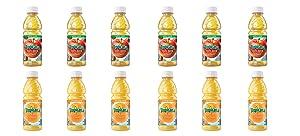 LUV BOX - Variety Tropicana Juice Pack 10oz Plastic Bottle, 12 Per Case, Tropicana Orange Juice,Tropicana Apple Juice