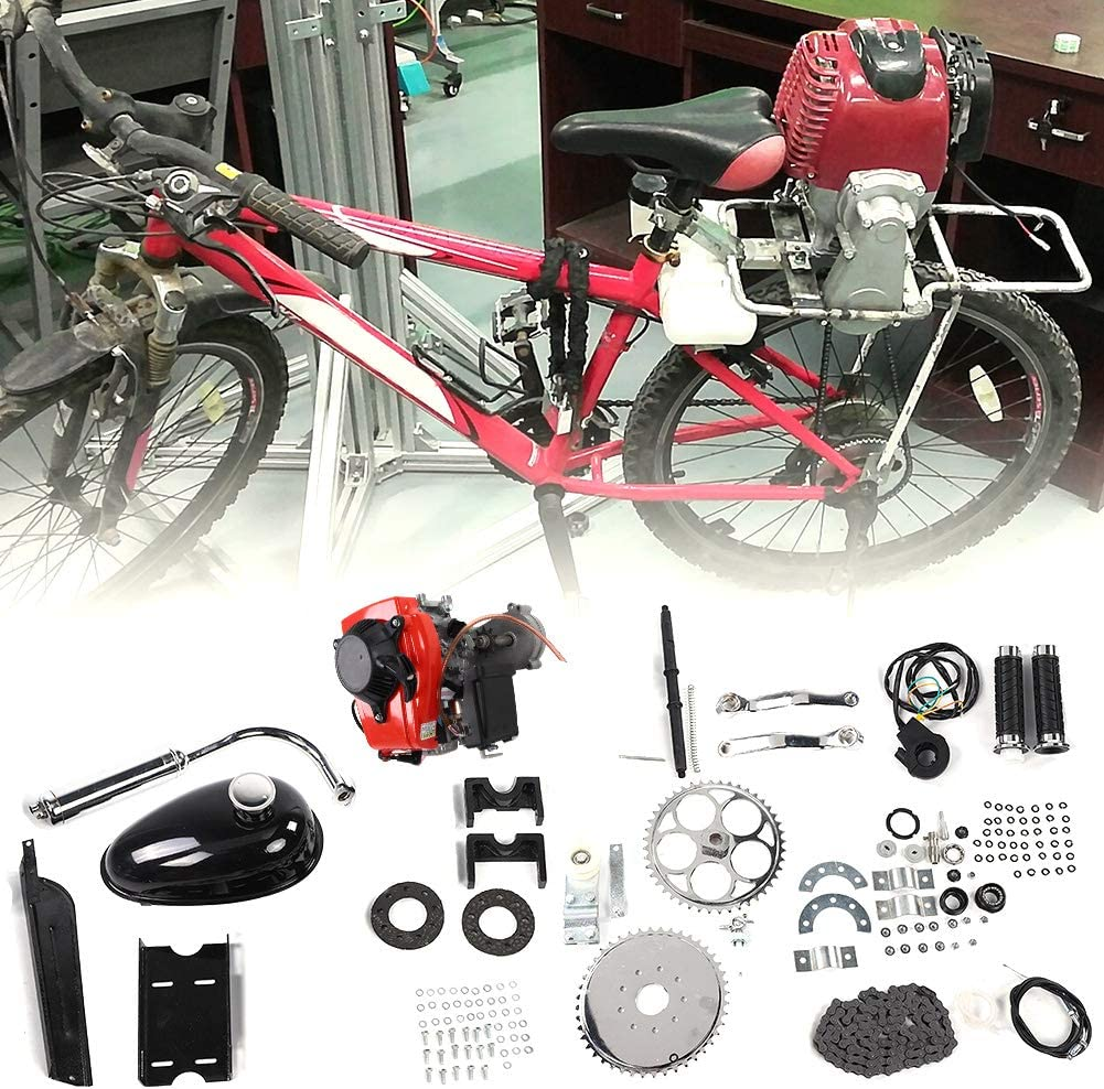 Zouminyy Kit De Motor De Bicicleta De Bicicleta Motorizada, Kit de Motor de Gas, Kit de motor de motor de gas de gasolina de 4 tiempos para modificación de bicicleta motorizada: Amazon.es: