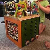 Amazon Com B Zany Zoo Wooden Activity Cube Toys Amp Games