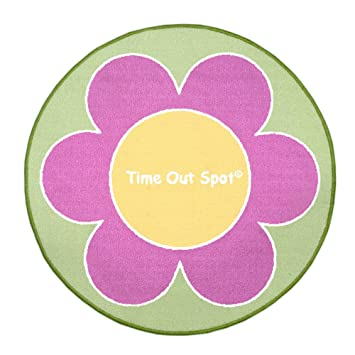 Child To Cherish Time Out Spot Rug, Flower