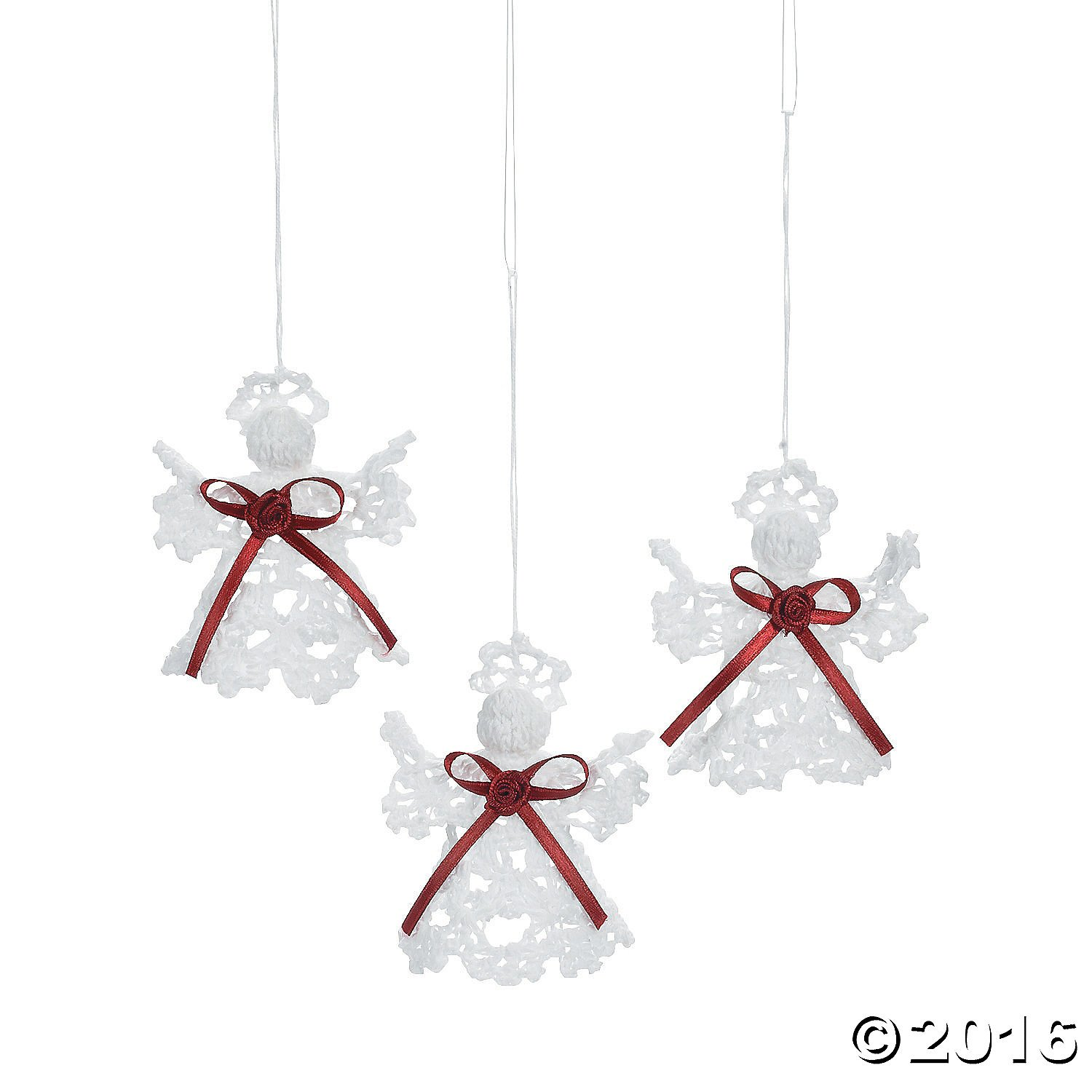 amazoncom victorian crocheted angel christmas ornaments set of 12 home kitchen - Crochet Angel Christmas Tree Decorations