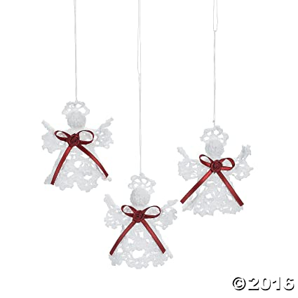 victorian crocheted angel christmas ornaments set of 12