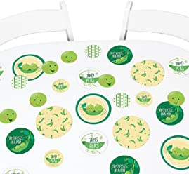 Big Dot of Happiness Double The Fun - Twins Two Peas in a Pod - Baby Shower Giant Circle Confetti - First Birthday Party Decorations - Large Confetti 27 Count