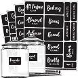 Talented Kitchen Pantry Labels - 128 Preprinted Cursive Chalkboard Kitchen Labels Sticker. Black Chalk, Water Resistant Reusable, Jar Label Pantry Organization Storage (Set of 128- Cursive Chalkboard)