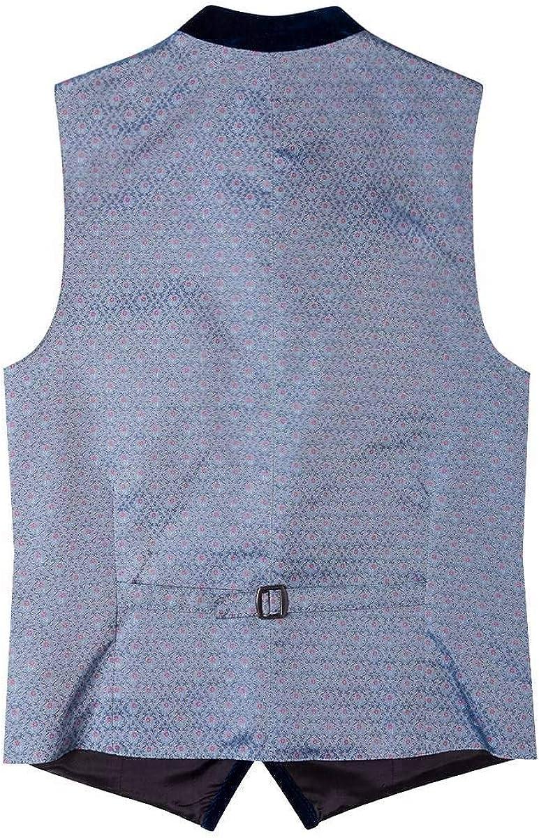 Material Baumwolle Stehkragen Lieblingsgwand Moser Trachten Trachtenweste grau blau Gemustert Kilian 004827
