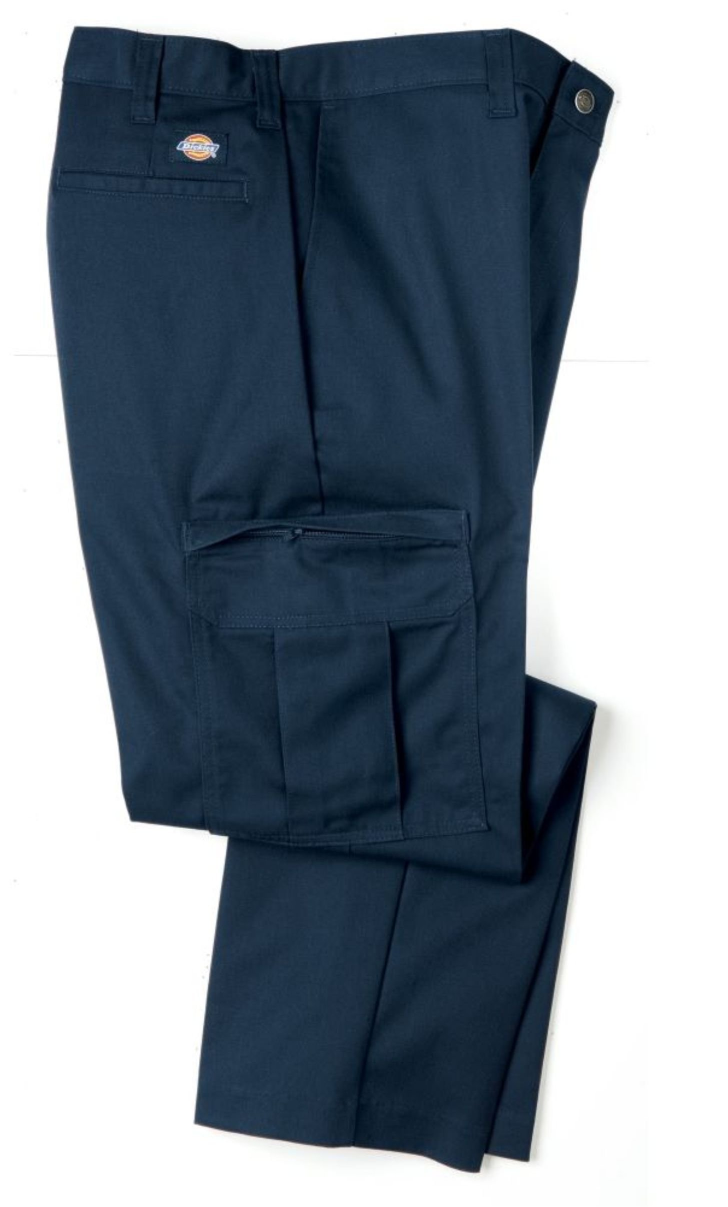 Dickies Occupational Workwear 2112372NV 42x30 Polyester/ Cotton Relaxed Fit Men's Premium Industrial Cargo Pant with Straight Leg, 42'' Waist Size, 30'' Inseam, Navy Blue