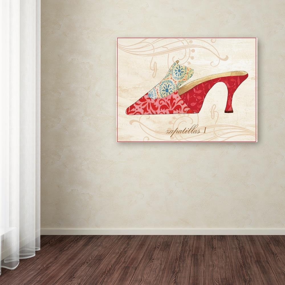 Amazon.com: Trademark Fine Art Shoe Flower by Fiona Stokes-Gilbert, 24x32-Inch Canvas Wall Art: Posters & Prints