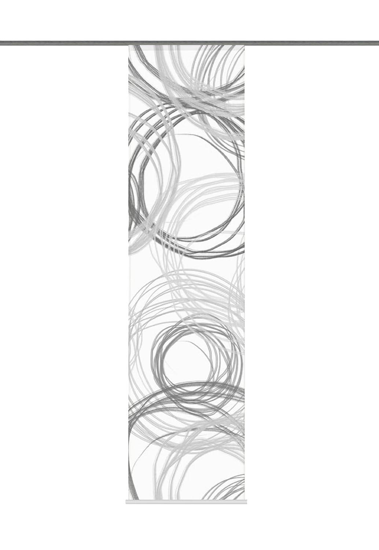 Home Fashion 87372-796 Kingston Flammé Panneau Japonais Polyester Noir/Blanc 245 x 60 cm