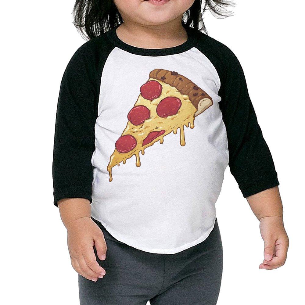 Saroyan Salami Pizza Slice Toddler Raglan T-Shirts Baseball Tee 3/4 Sleeve