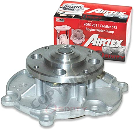 Airtex Water Pump for 2005-2011 Cadillac STS 3.6L V6 - Auxiliary Engine Timing Belt