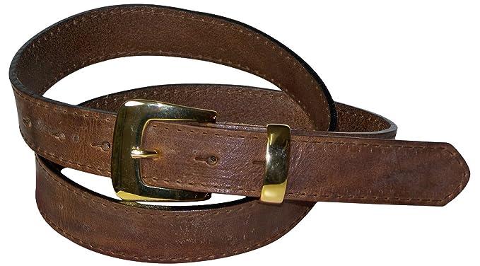 efbdc48ac8626c Fronhofer eleganter Damengürtel 3 cm abgenäht goldene Gürtelschnalle  goldene Schlaufe 100% Ledergürtel Gürtel Schnalle Gold