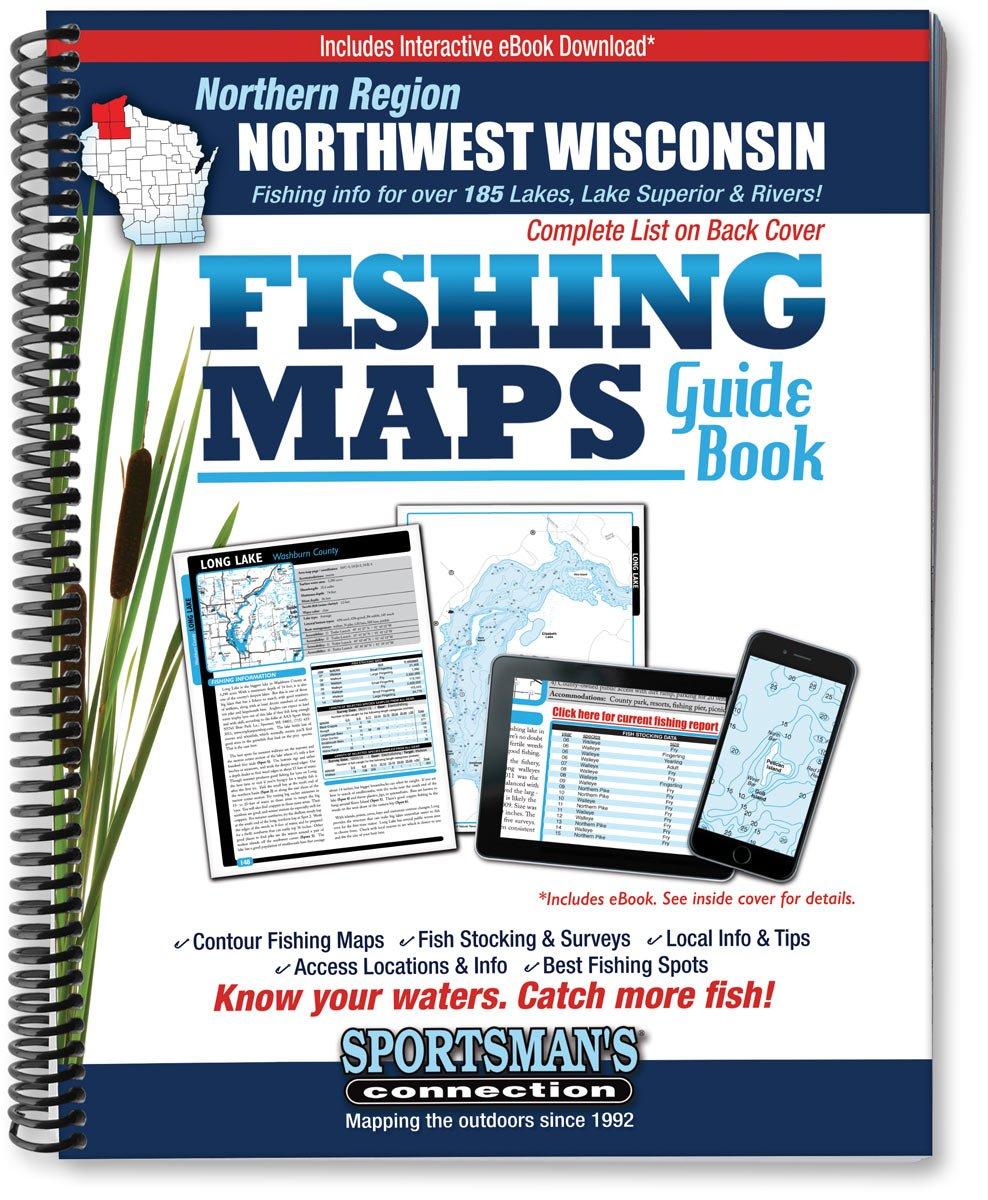 Northwest Wisconsin Fishing Map Guide, Northern Region