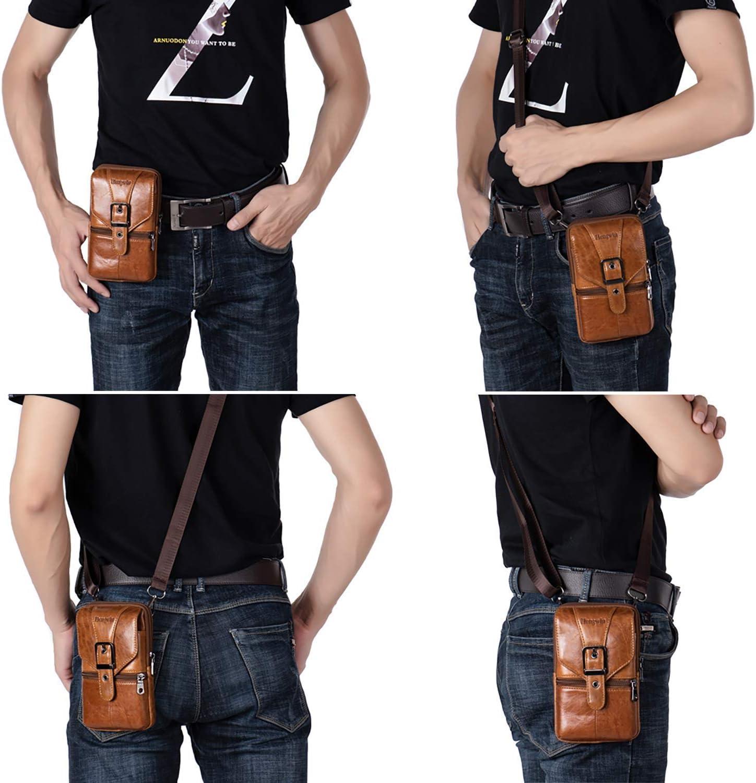 Pantalon cuir en cuir-Designer Jeans en Super soft vraiment-Cuir à Cognac pour Homme