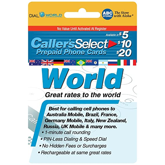 Amazon com: Callers Select World Prepaid Phone Card For Long