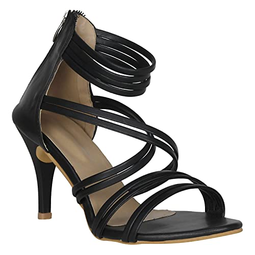 c4b62460e637f Misto VAGON Women and Girls HIGH Heels Sandals Sandals HIGH Heels Slippers  HIGH Heels Formal Sandals with Patent Leather Upper and Synthetic Leather  ...