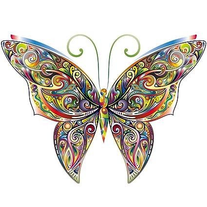 Parches de mariposa Hergon para ropa de niños, pegatinas de bricolaje, parche de planchado