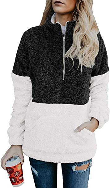 Amazon.com: Vansha - Chaqueta de forro polar para mujer, con ...