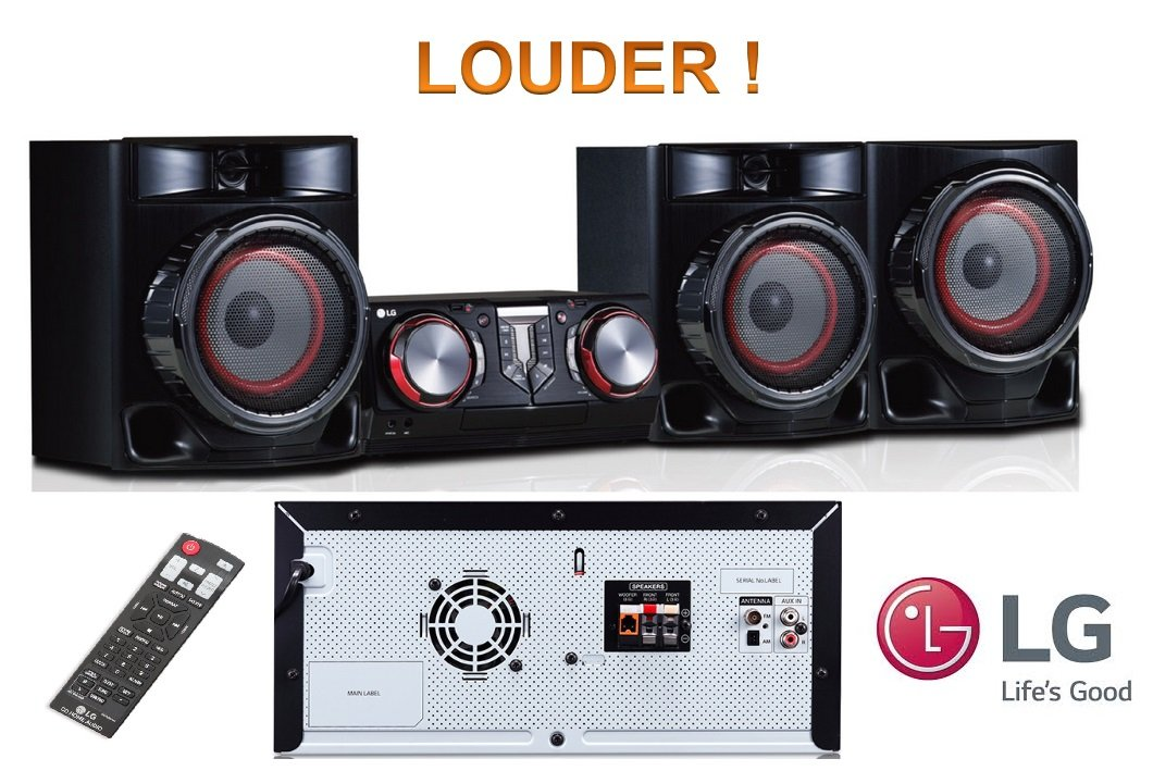 LG CJ45 – 720W RMS LOUDER HIFI Entertainment System with Bluetooth® Connectivity /CD / FM PLL / Karaoke Creator / Multiple Connection / Semi Light Show / Twin USB / Full function Remote Control