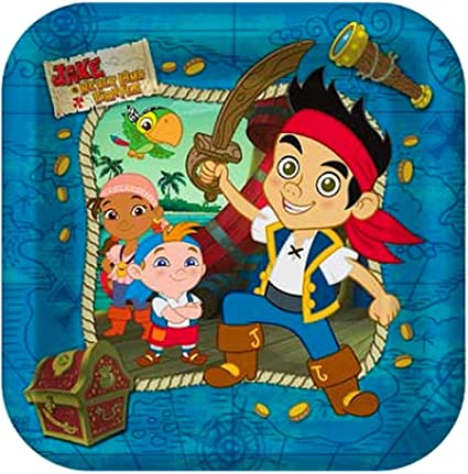 Jake /& the Neverland Pirates Party Suppiles Pack Including Plates 16 Guests Hallmark Napkins and Tablecover