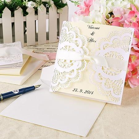 invitations with ribbon