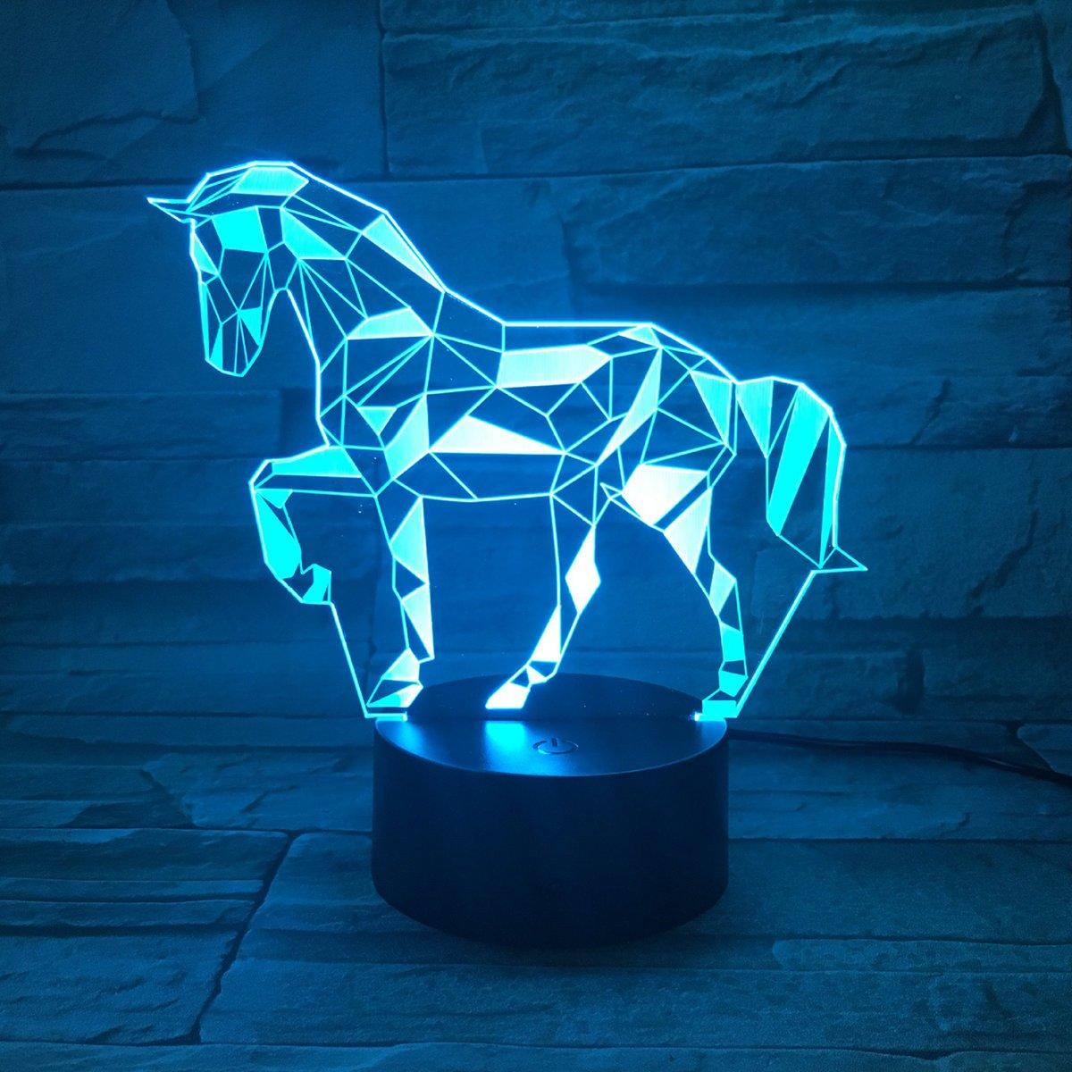 3D L/ámpara /óptico Illusions Luz Nocturna EASEHOME LED L/ámpara de Mesa Luces de Noche para Ni/ños Decoraci/ón Tabla L/ámpara de Escritorio 7 Colores Cambio de Bot/ón T/áctil y Cable USB Ciclismo