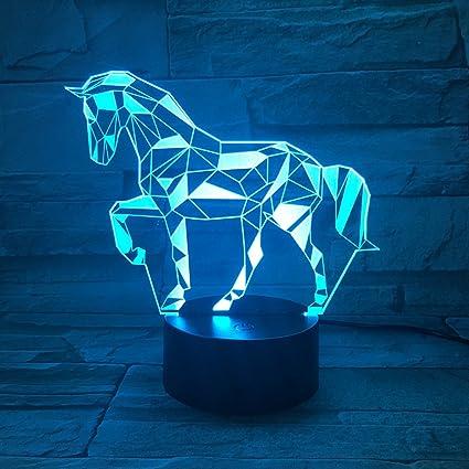 3D Lámpara óptico Illusions Luz Nocturna, EASEHOME LED Lámpara de Mesa Luces de Noche para