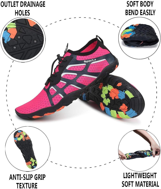 VVQI Chaussures Aquatiques Femme Homme Chaussures deau Chaussures de Plage de Yoga de Surf de Nager Sport de Plong/ée pour Piscine