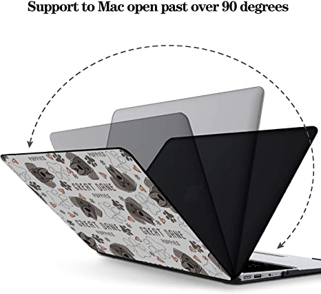 MacBook Accessories 13 Inch Smart Fierce Animal Pet Great Dane Plastic Hard Shell Compatible Mac Air 11 Pro 13 15 MacBook A1466 Case Protection for MacBook 2016-2019 Version