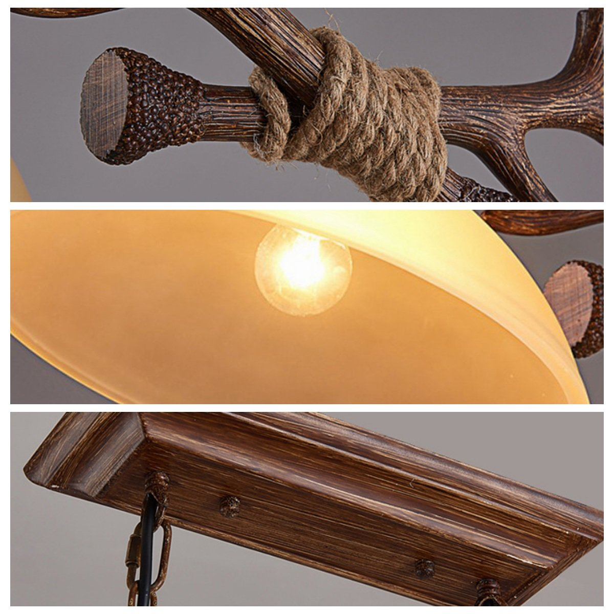 2 Lamps Antlers Kitchen Island Pendant Lights Chandeliers Double R H Antique Ceiling Lights Dining Decoration Island Light Vintage Antler Hanging Lamp