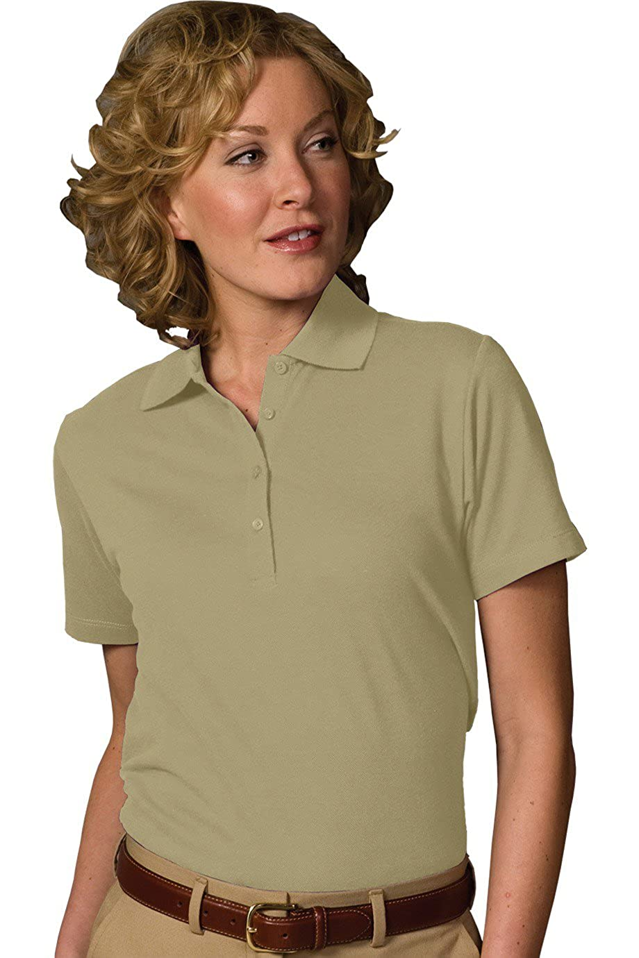 Tan XXX-Large Edwards Garment Womens Soft Touch Blended Polo