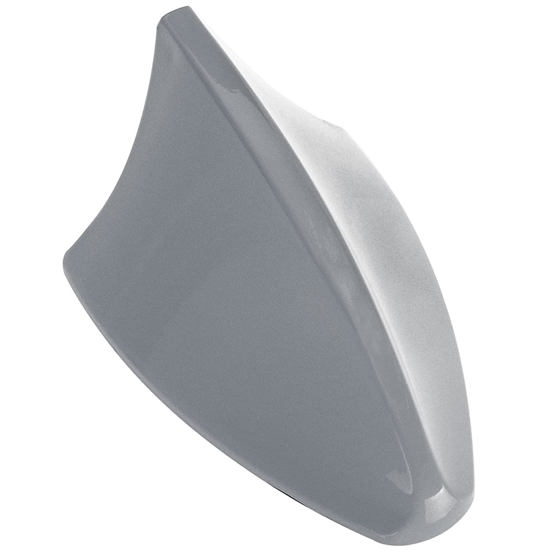 Woltu 7021-b Antenna Pinna di Squalo Shark Plastica Rigido AM/FM Universale Lucido Argenteo #160