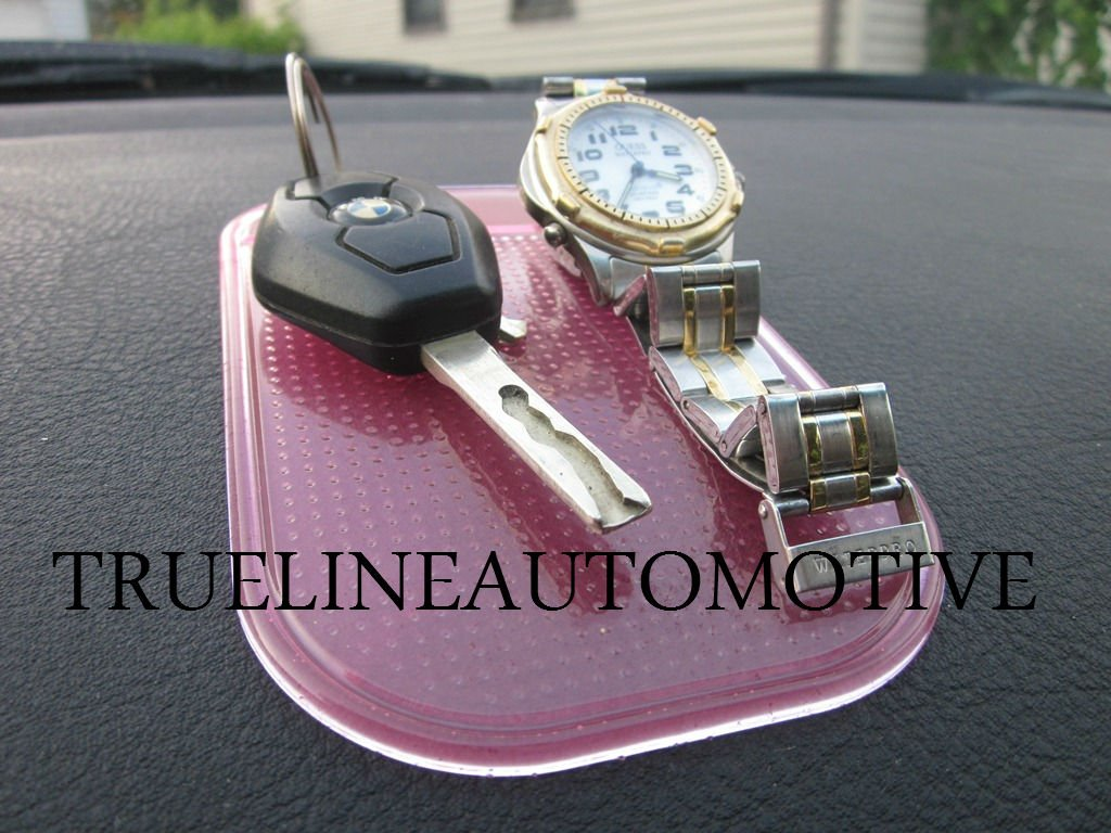 TRUE LINE Automotive Dashboard Anti-slip Sticky Pad Phone GPS Sunglass Holder (PINK)