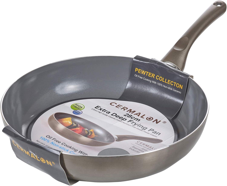 Cermalon Cookware Suacepans - Juego de sartenes, 24cm Frying Pan ...