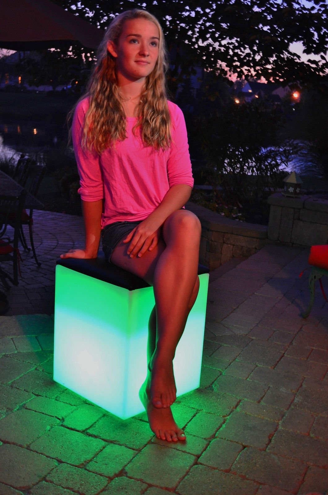 Pool Waterproof Color Changing Patio Floating LED Light Padded Seat With Ebook by MRT SUPPLY