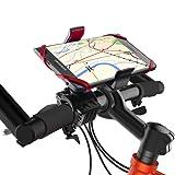 Migimi Universal Fahrrad Handyhalterung, neusten Universal drehbar Handyhalter Fahrrad verstellbar, Fahrrad Handy Halterung mit Silikonband für iPhone 7 / 7 Plus & Samsung Galaxy S7 Edge und Andere