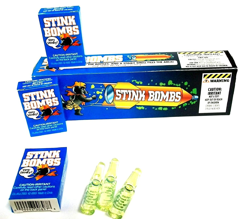12 Practical Joke Stink Bombs Kids Novelty Prank Fart Smelly Rotten Egg Trick UK