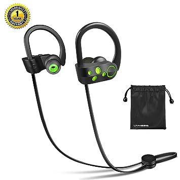 Auriculares Bluetooth 4.1 - LNMBBS In-ear Deportivos Auriculares, tecnología APTX y de micrófono para iPhone, iPad, LG, Samsung y Otros Teléfonos Móviles ...