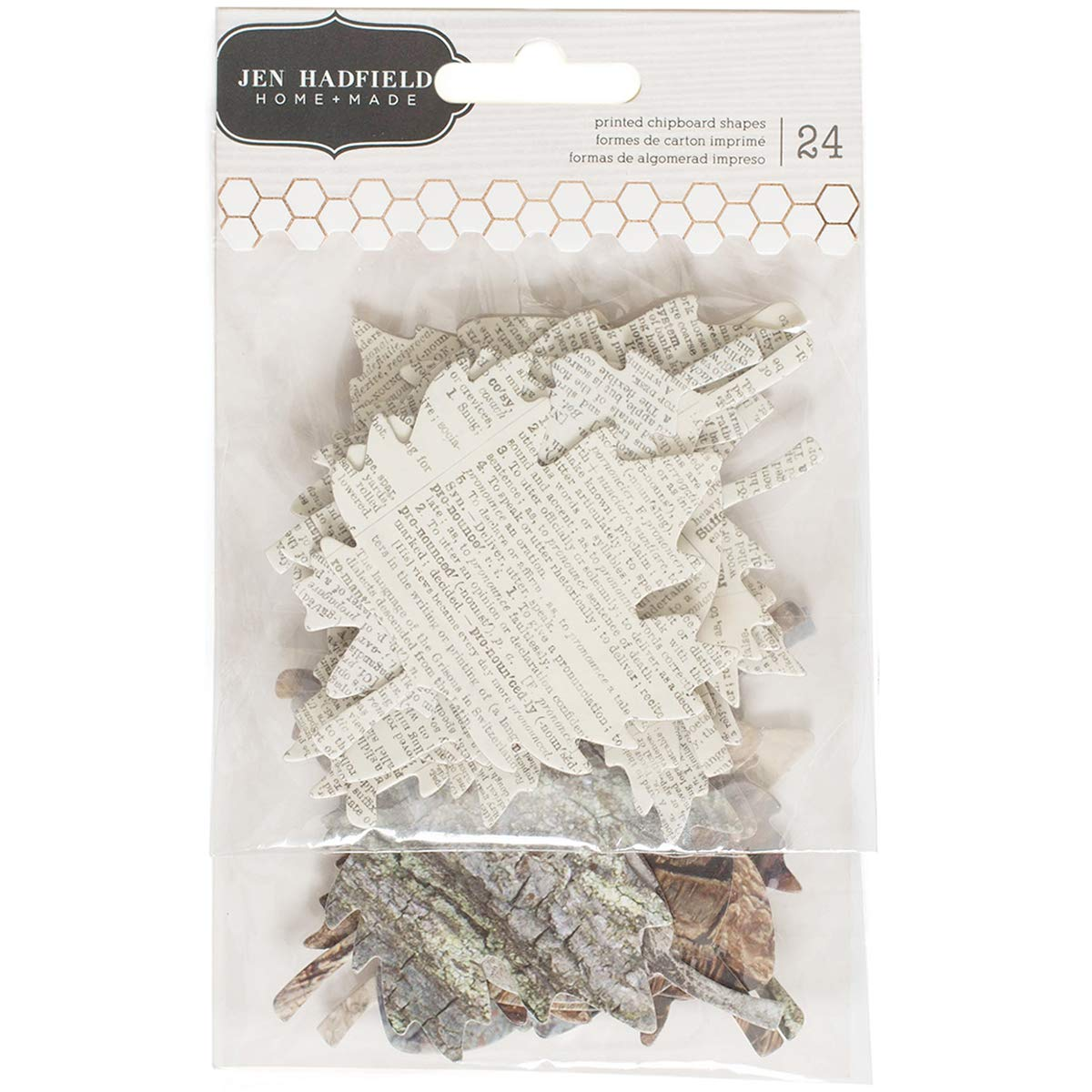 Warm and Cozy Collection Chipboard Leaves (6 Pack)