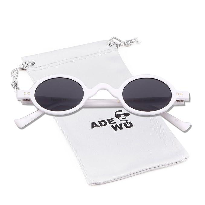 ADEWU Gafas de sol redondas pequeñas Clout Goggles Retro ...