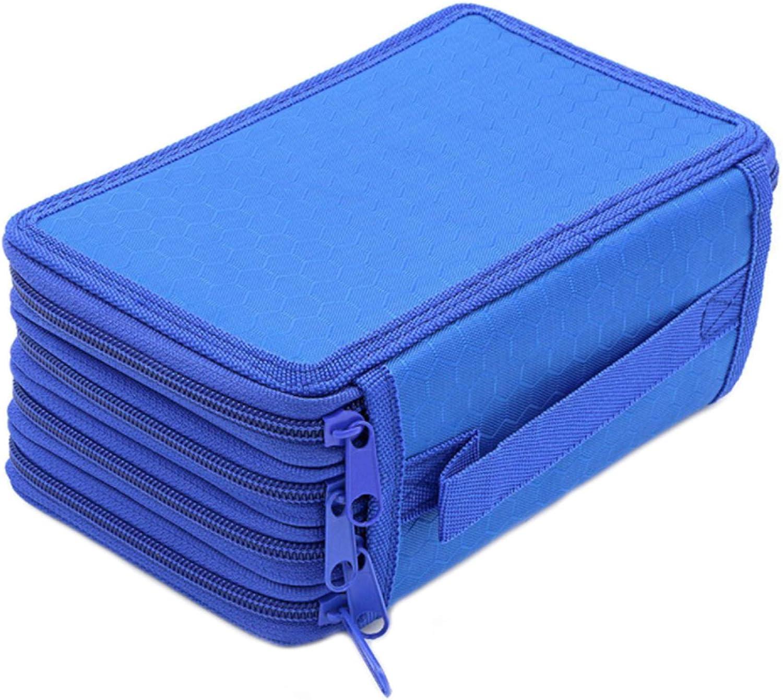MESHIKAIER - Estuche de lona con 72 ranuras y 4 compartimentos para lápices, color azul 12.5x19.5x8cm: Amazon.es: Oficina y papelería