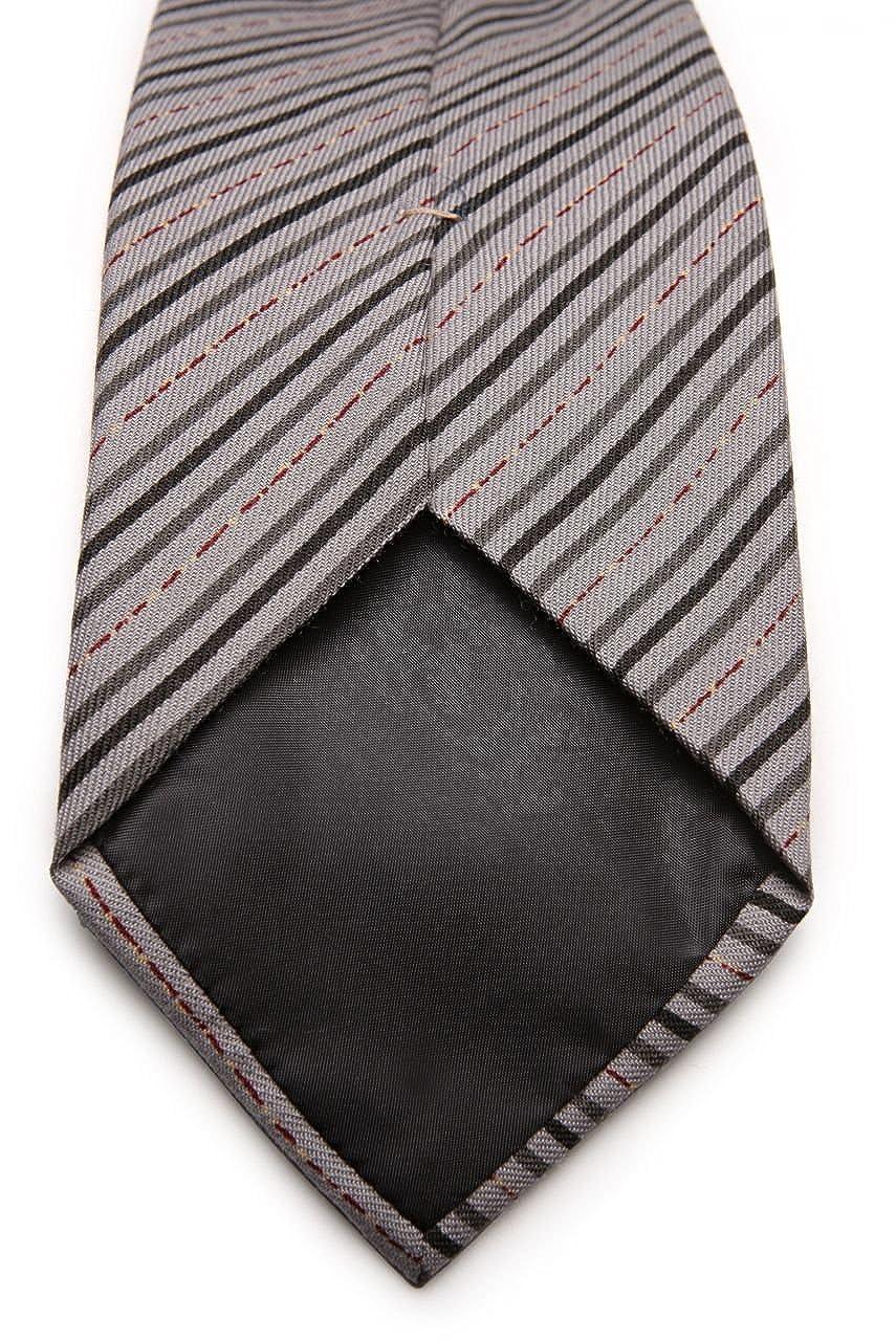 Gianfranco Ferré - Corbata de seda, diseño de rayas gris Talla ...