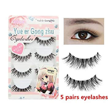 65cb1a9bba0 Amazon.com : Yezijin Big sale! 5 Pair/Lot Crisscross False Eyelashes Lashes  Voluminous HOT eye lashes : Beauty