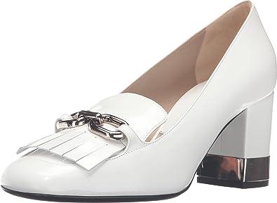 Shopping Womens Dress Shoes - Michael Kors Carrie Runway Optic White/Palladium Spazzolato