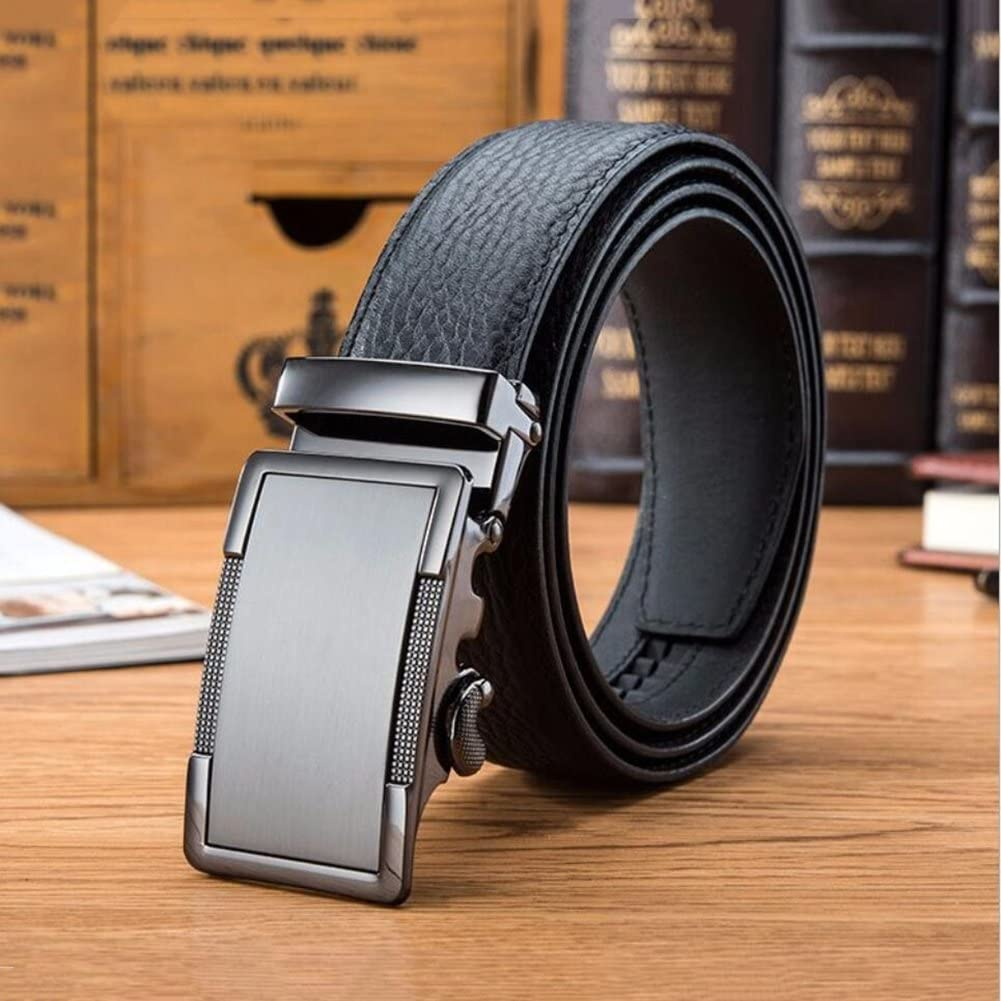 Color : A, Size : 120 XUEXUE Mens Belt,Leather,Automatic Metal Buckle,Business Work Active Basic Leather,Casual Formal Belts Adjustable Work Clothes Uniforms Stylish