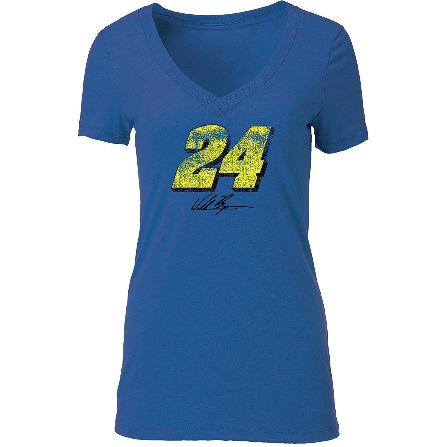 NASCAR Stewart Haas Racing Clint Bowyer Womens W Tri Blend Deep V S//S TW Tri Blend Deep V S//S T