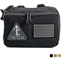 14er Tactical MOLLE Admin Pouch | 1000D Material & YKK Self-Healing Zippers | Flag Patch Panel & MOLLE Compatible PALS…
