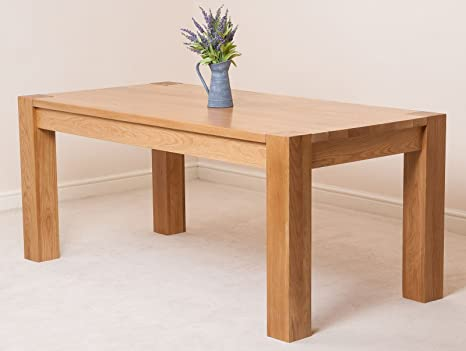 size 40 1b45a 903df 6 - 8 Person Large Oak Dining Table   6ft Solid Oak Wood Kitchen Dining  Room Table   180 x 90 cm Chunky Dining Table   Minimal Assembly   Kuba by  Oak ...