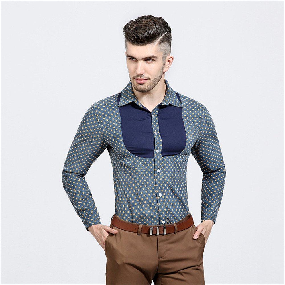Lixus männer - Mode - Revers, langärmliges t - Shirt, Mann Revers langärmelige Shirt,Blau,M