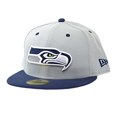 7012b05710d4c9 New Era Seattle Seahawks NFL Official Field 59FIFTY Fitted Cap Grey/Blue ne- nfl