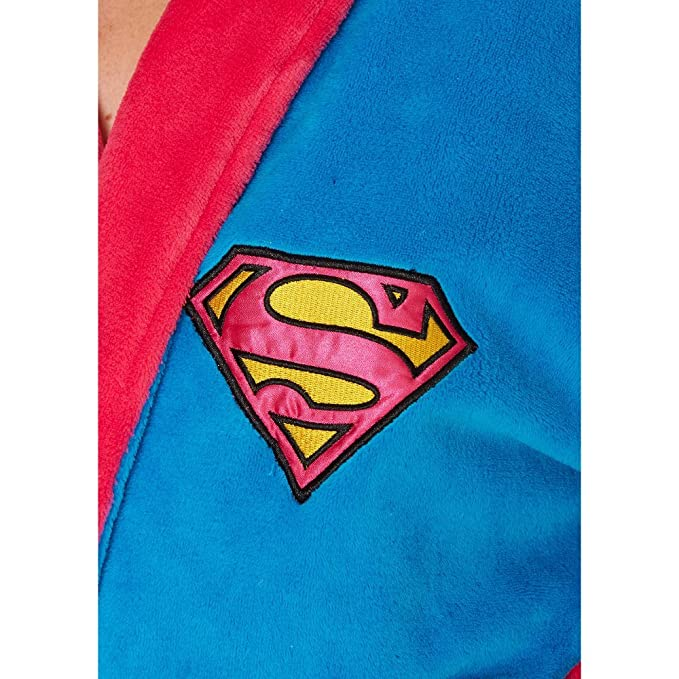 Official Ladies DC Comics Supergirl Blue and Pink Adult Dressing ...